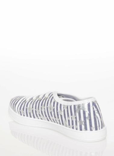 DeFacto Yıldız Baskılı Spor Ayakkabı Mavi